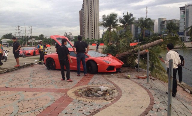 Lamborghini Aventador Crash in Thailand