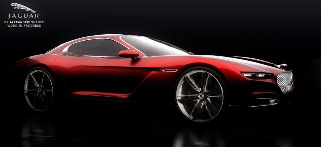 Render: Jaguar E-Type Concept by Alexander Imnadze