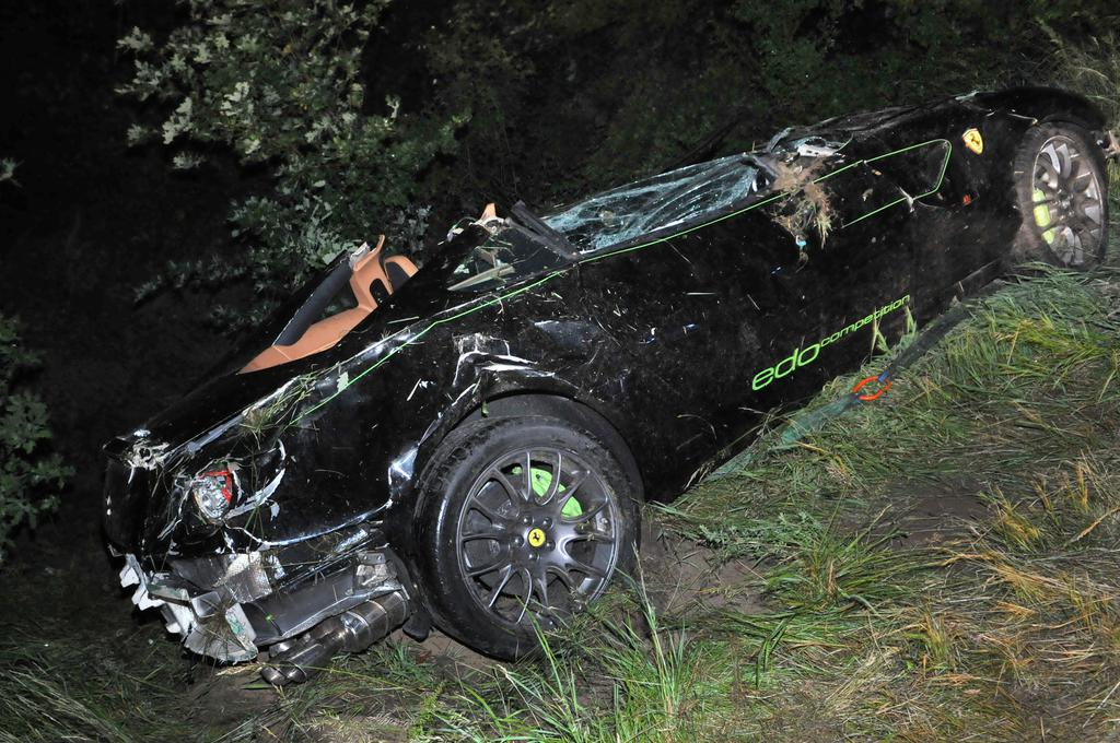 Car Crash: Borrowed Edo Competition Ferrari 599 GTB Crashes
