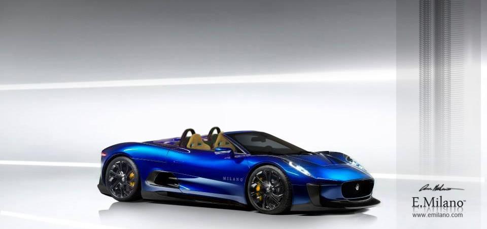 Render: Jaguar C-X75 Spyder by Evren Milano