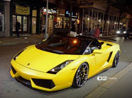 Gallery: Lamborghini Gallardo on D2Forged Wheels at Night