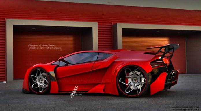 Render: Lamborghini Sinistro by Maher Thebian
