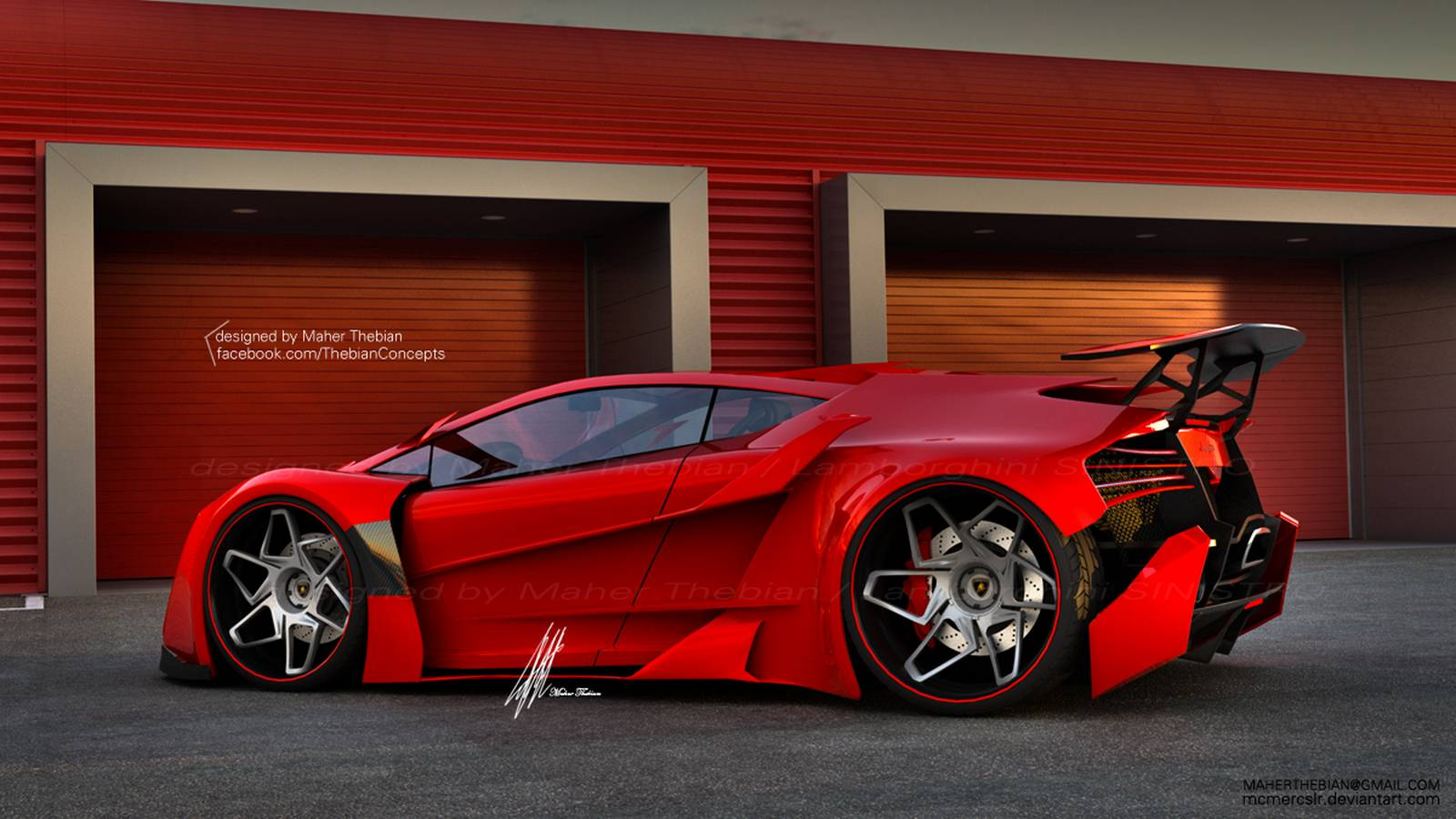 Superieur Render: Lamborghini Sinistro By Maher Thebian