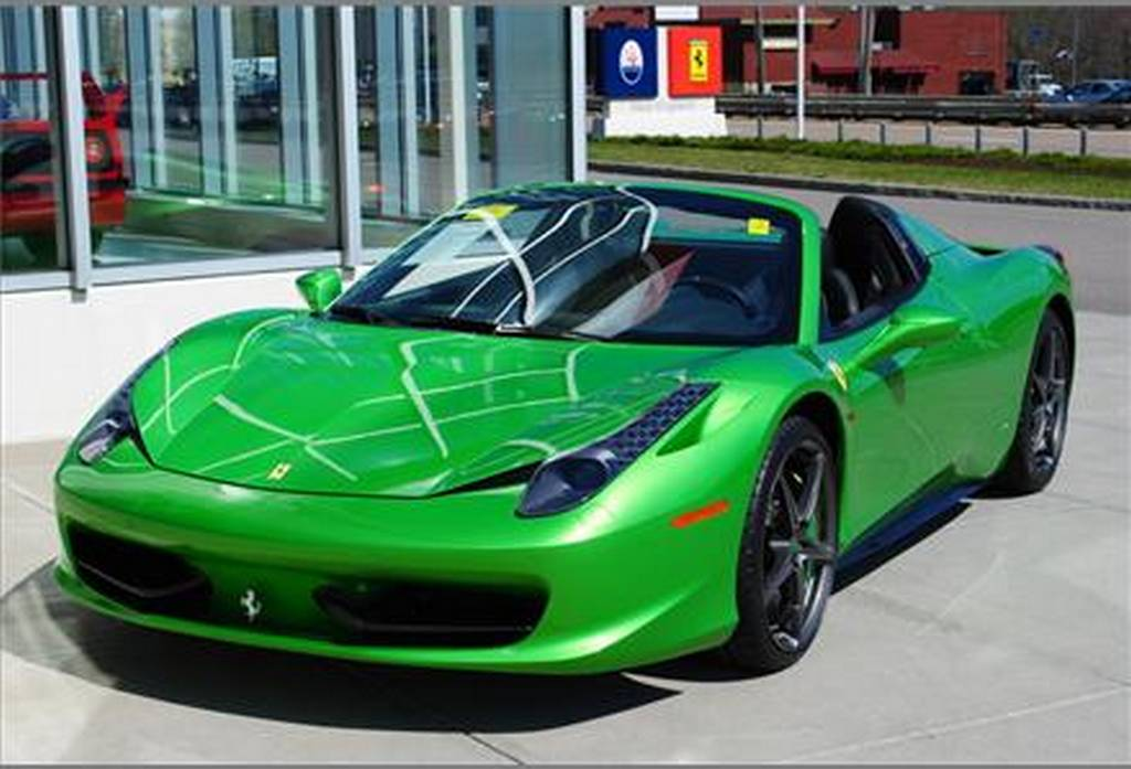 wallpaper green ferrari cars - photo #20