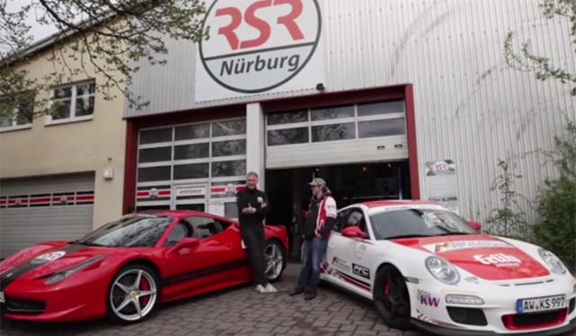 Video: Porsche 911 GT3 RS vs Ferrari 458 Italia at the 'Ring