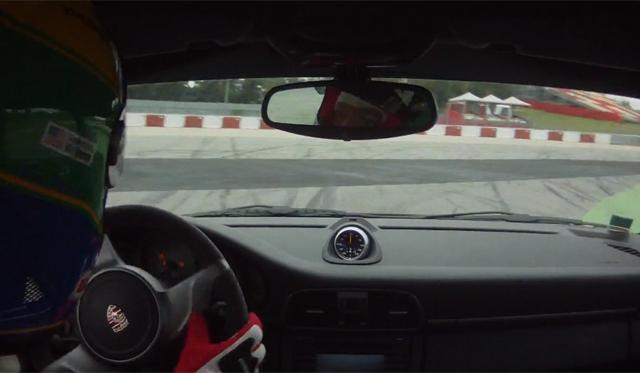 Car Crash: Porsche 911 GT3 Hits Wall at 160mph at Circuit de Catalunya