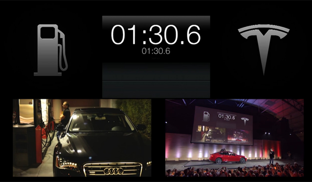 Video: Tesla Showcases 90-Second Battery Pack Model S Change