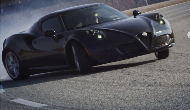 Video: Black Alfa Romeo 4C Hits Balocco Race Track