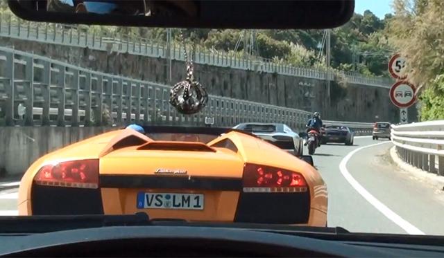 Video: Epic Tunnel run in three Lamborghini's