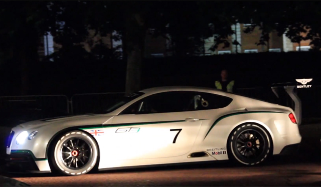 Video: Bentley Continental GT3 Revving at Top Gear Filming