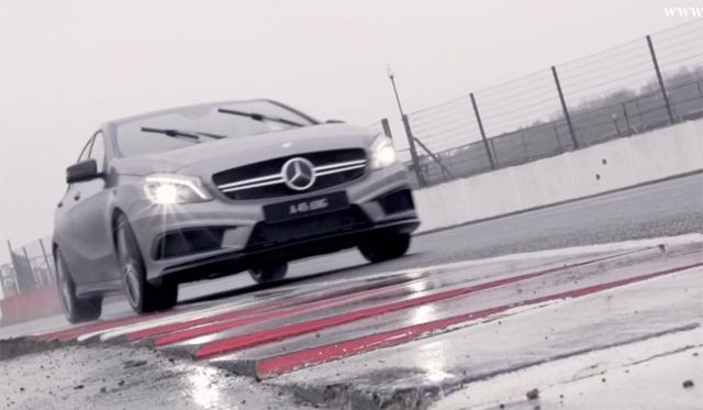Video: Lewis Hamilton Drives Mercedes-Benz A45 AMG