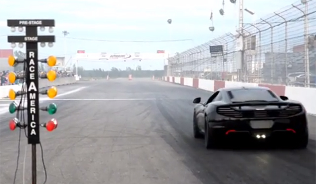 Video: McLaren 12C Completes 1/8th Mile in 7.11 Seconds