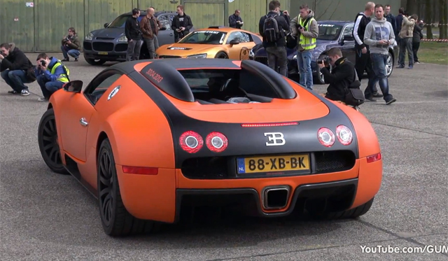 video bugatti veyron with mansory exhaust gtspirit. Black Bedroom Furniture Sets. Home Design Ideas
