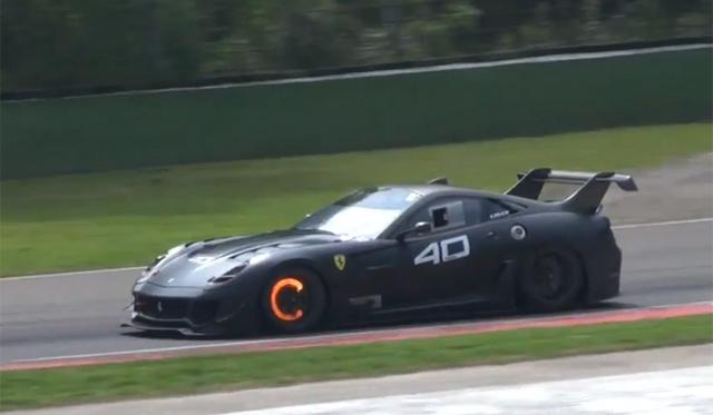 Video: Ferrari 599XX Evolutions on Track