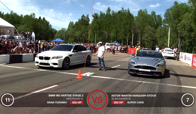 Video: 2013 Aston Martin Vanquish vs BMW M5 vs Nissan GT-R