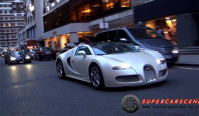 Video: Two Bugatti Veyron's Spotted in London