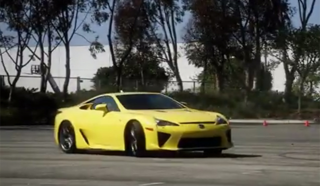 Video: Lexus LFA Celebrates National Donut Day