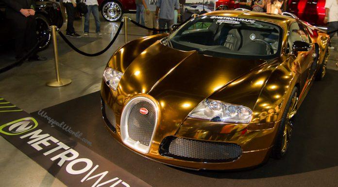 Flo Rida Wraps his Bugatti Veyron in Gold Chrome Finish