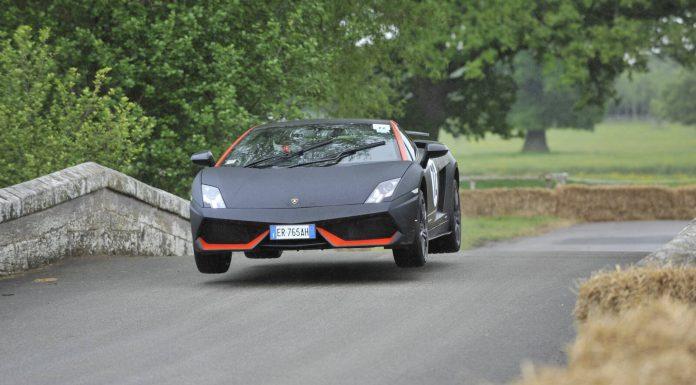 Lamborghini Gallardo Airborne at Cholmondeley Pageant of Power 2013