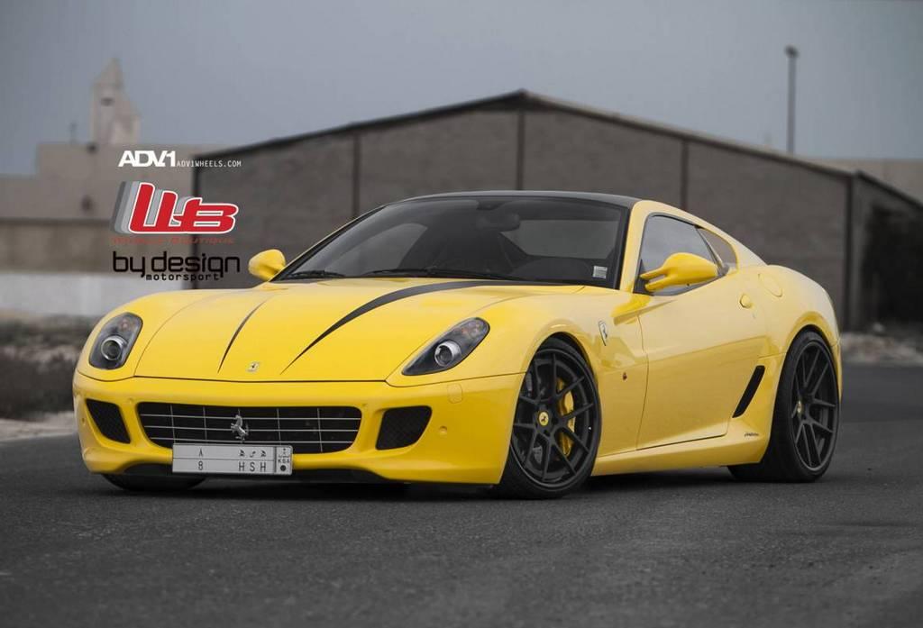 Gallery: Yellow Ferrari 599 GTB on ADV.1 Wheels