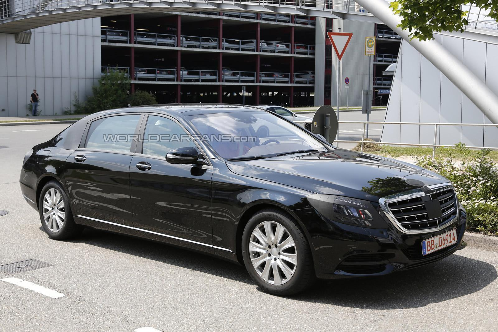 spyshots 2014 mercedes benz s class pullman - Mercedes Benz 2014 S Class Black