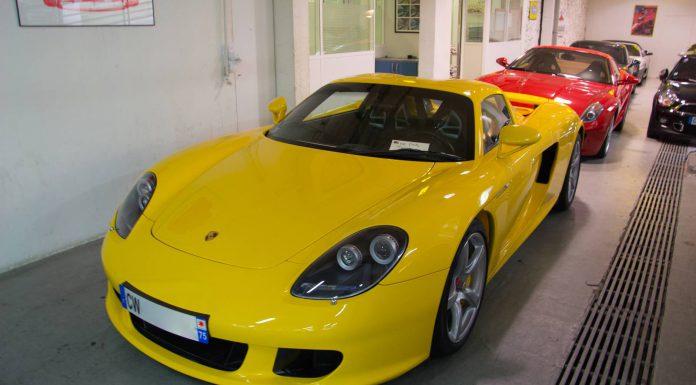 Gallery: Yellow Porsche Carrera GT in Paris