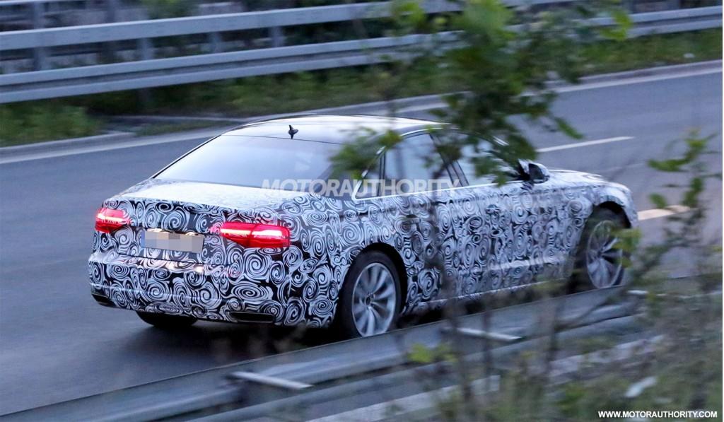 Spyshots: 2015 Audi A8 Testing at Night