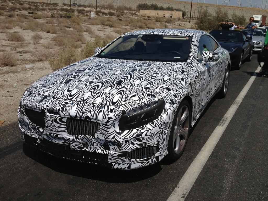 The upcoming 2015 Mercedes-Benz S-Class Coupe is currently undergoing