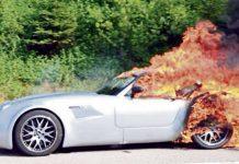 Wiesmann MF5 Goes up in Flames in Germany