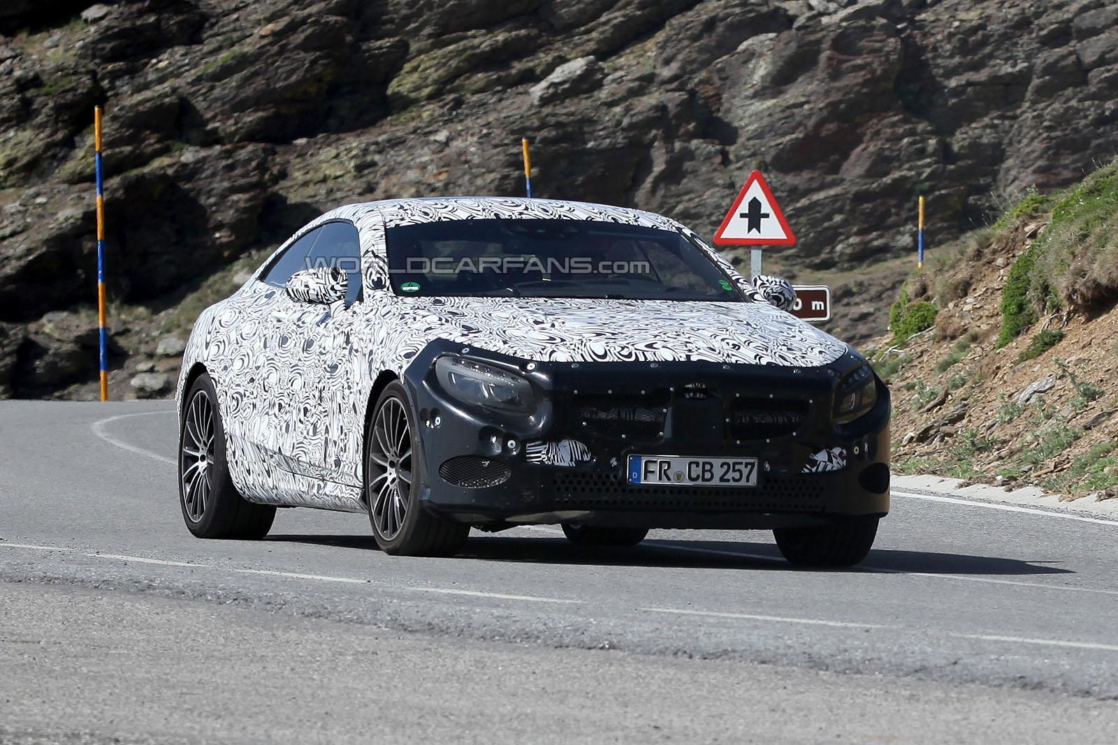 spyshots 2014 mercedes benz s class coupe high altitude testing