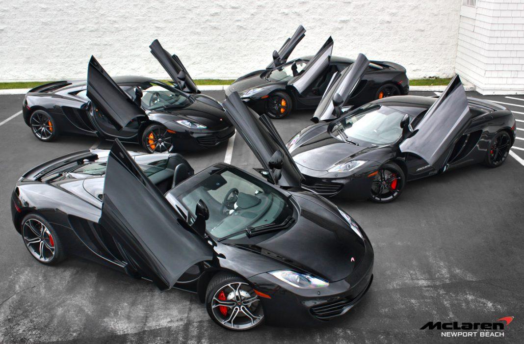 Photo Of The Day: Four Black McLaren 12Cs