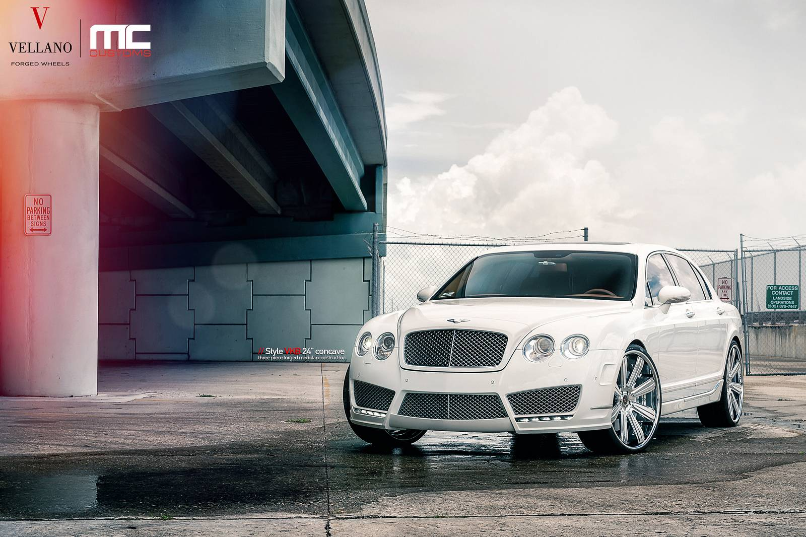 White Bentley Continental Flying Spur By Mansory And Vellano Wheels Gtspirit