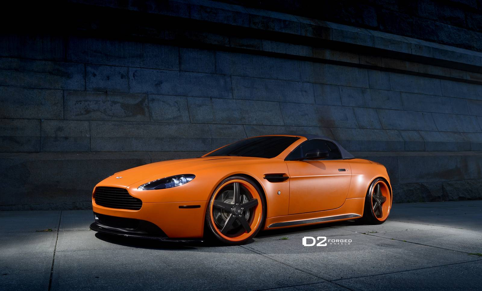 Gallery Orange Aston Martin V8 Vantage Roadster On D2forged Wheels Gtspirit