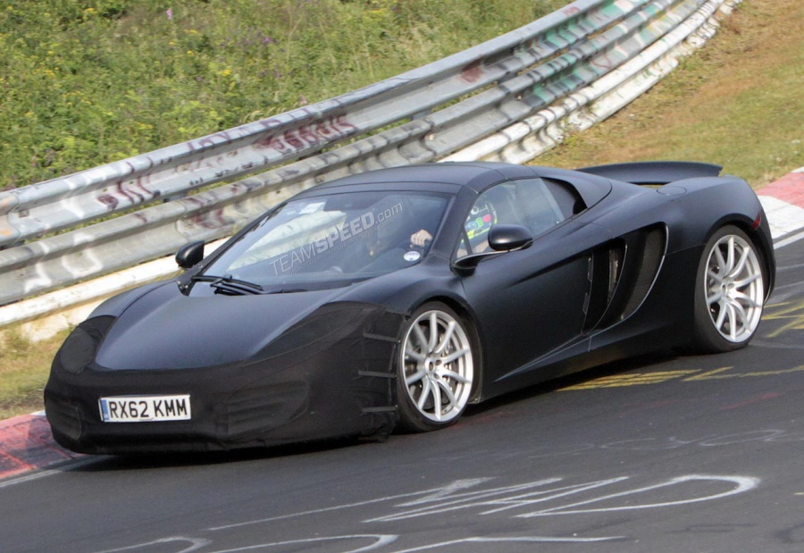 Spyshots: Facelifted 2014 McLaren 12C at the 'Ring