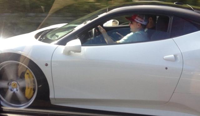 Rob Dyrdek Spotted In His White Ferrari 458 Italia Gtspirit