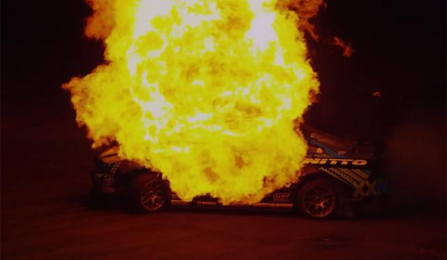 Video: Vaughn Gittin Jr's Awesome Fire Drift