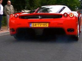 Video: Ferrari Enzo Does Epic Burnout