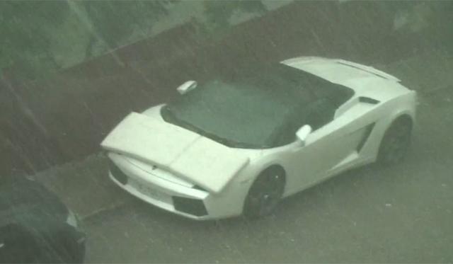 Video: Spanish Hailstorm Hits Lamborghini Gallardo Spyder