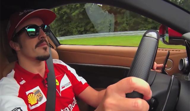 Video: Fernando Alonso Drives Ferrari F12 Berlinetta at the 'Ring
