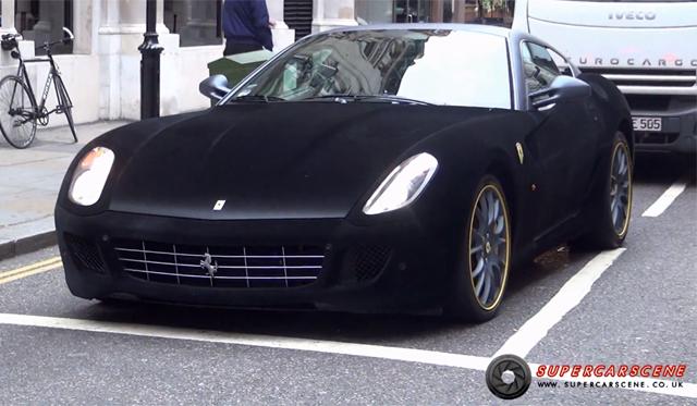 Video: Velvet Covered Ferrari 599 GTB in London