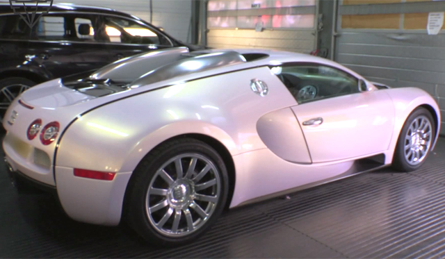 video pearl white pink bugatti veyron gtspirit. Black Bedroom Furniture Sets. Home Design Ideas