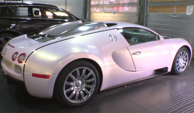 video pearl white pink bugatti veyron gtspirit. Black Bedroom Furniture Sets. Home Design Ideas