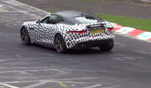 Video: Jaguar F-Type Coupe V8 Testing at the 'Ring