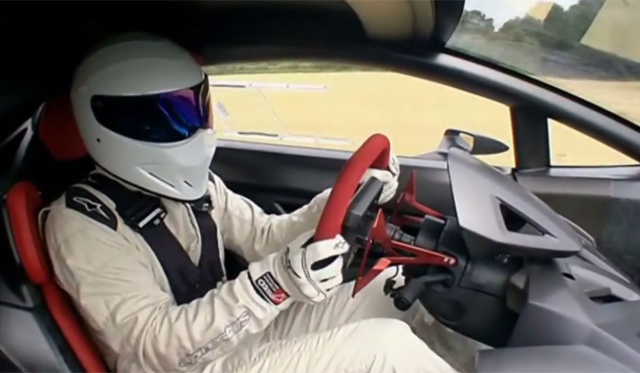 Video: The Stig Spins Lamborghini Sesto Elemento on Top Gear