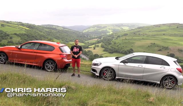Video: Chris Harris Compares Mercedes-Benz A45 AMG and BMW M135i