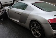 Car Crash: Audi R8 Smashed in Moscow, Russia