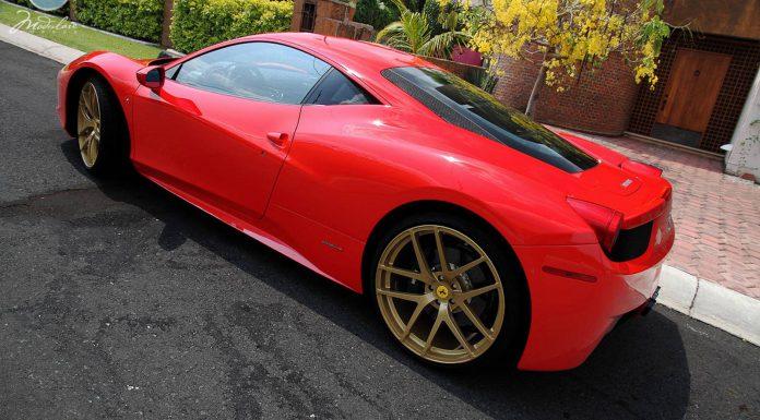 Gallery: Ferrari 458 Italia on Gold Modulare Wheels
