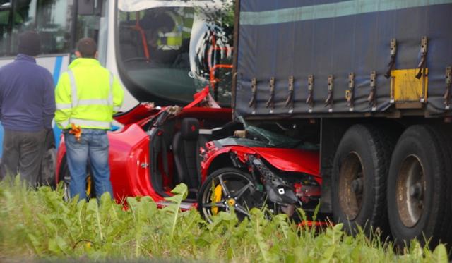Car Crash: Ferrari 458 Italia Destroyed After 2 Hours of Ownership