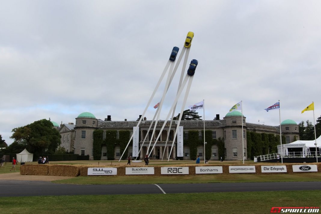 Goodwood Festival of Speed Porsches Central Sculpture