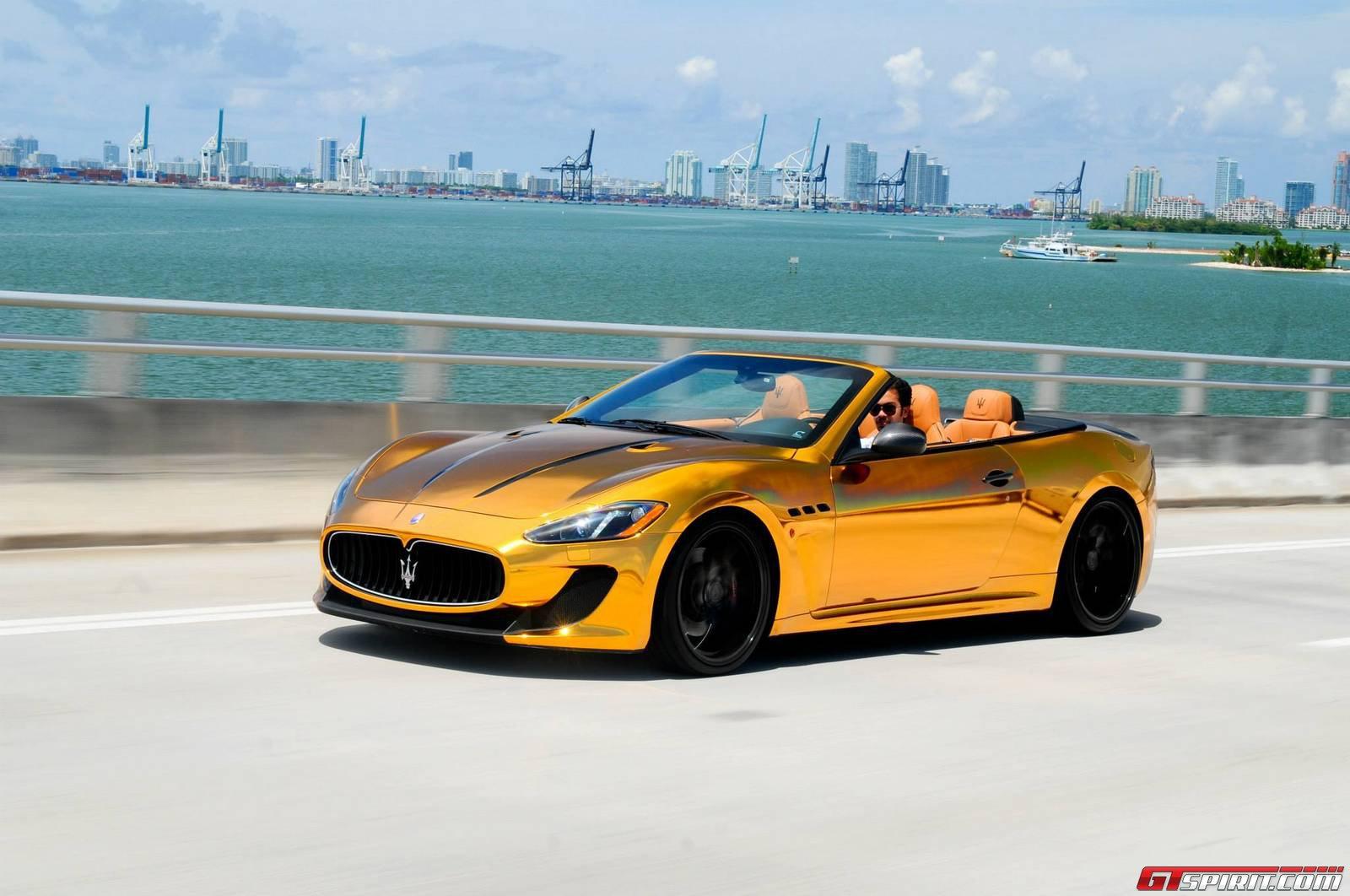 Matte Gold Maserati GranTurismo Sport 2013 in Dubai, UAE - YouTube